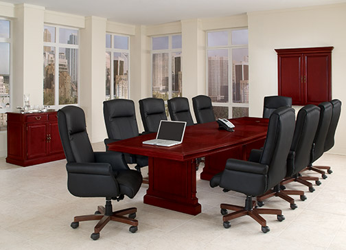 Keswick Boat-Shape Conference Table