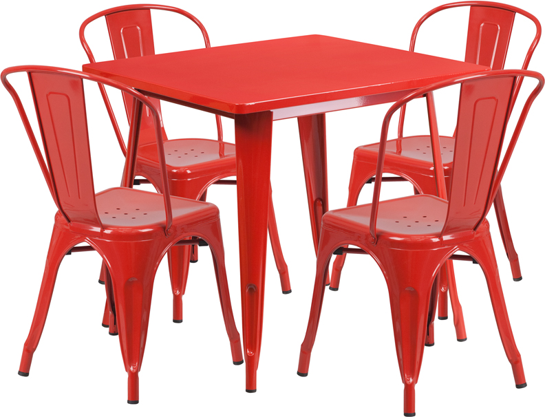 Vintage Metal Tables and Chairs