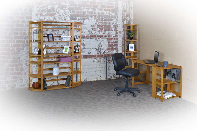 Flip Flop Work From Home Folding Desks and Bookcases