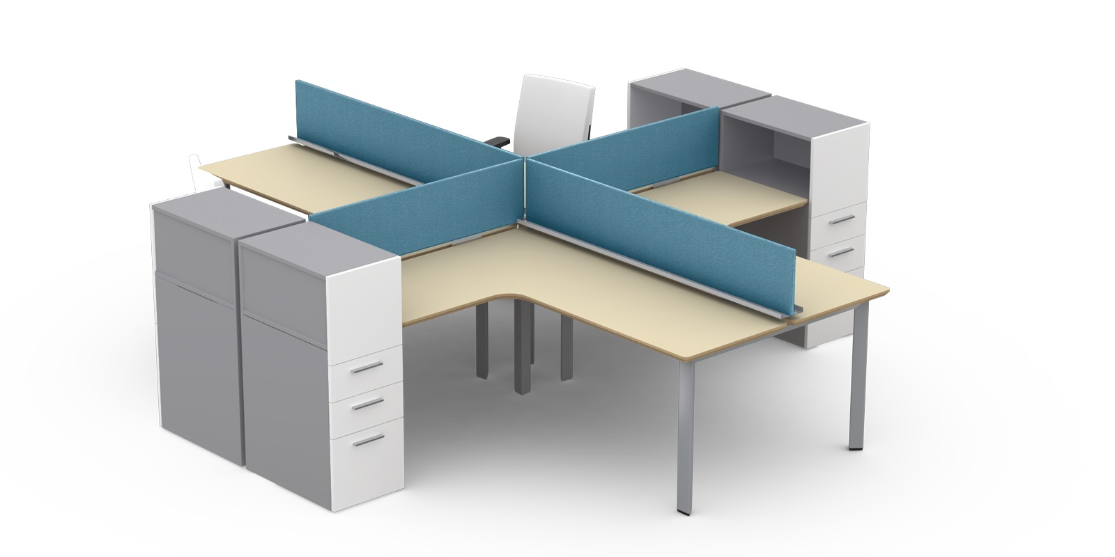 Modular fice Furniture M2 Open fice Plans by