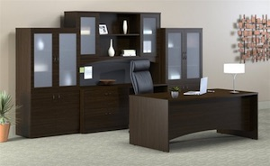 Mayline Brighton Desk and Storage Cabinets