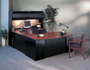 CSII Steel Desk and Storage Cabinets
