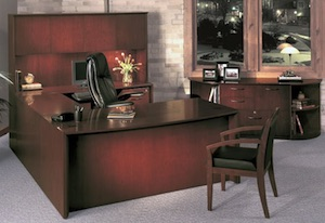 Mayline Corsica Desk and Storage Cabinets