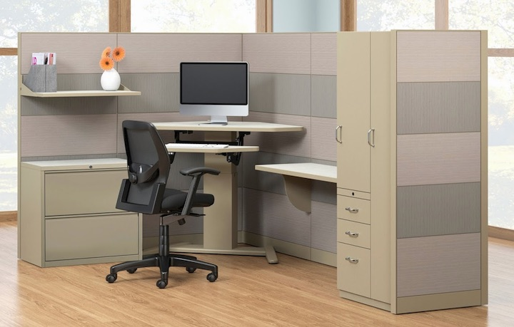 Mayline E-Series Height-Adjustable Desks