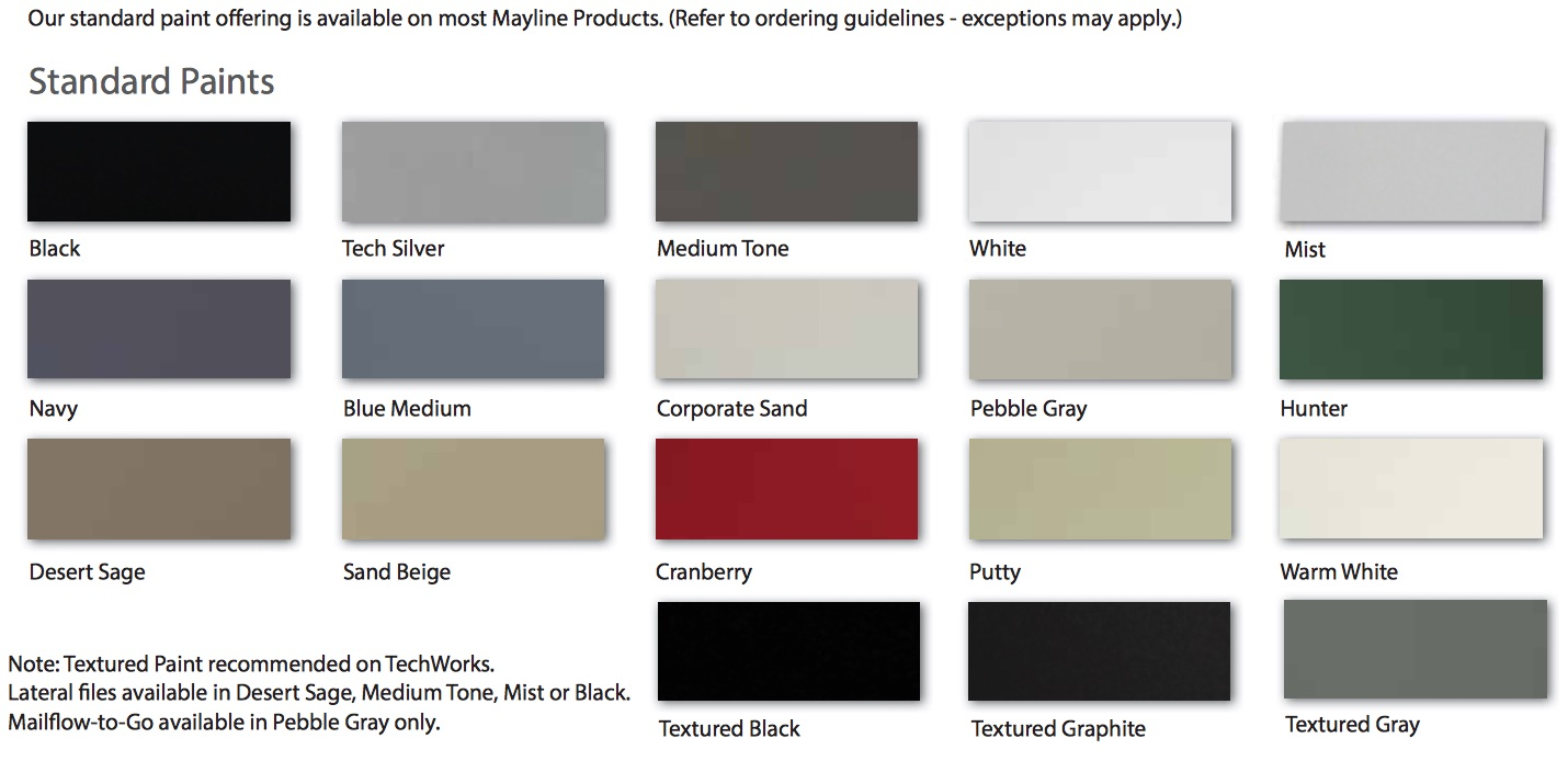 Mayline Techworks Paint Colors