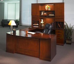 Mayline Sorrento Desk and Storage Cabinets