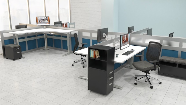 Mayline XR Height-Adjustable Workstations