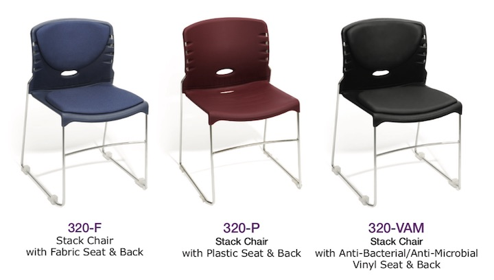 OFM Model 320 Multi-Purpose Stack Chairs