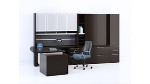 Paoli Fuse Desk and Storage Cabinets