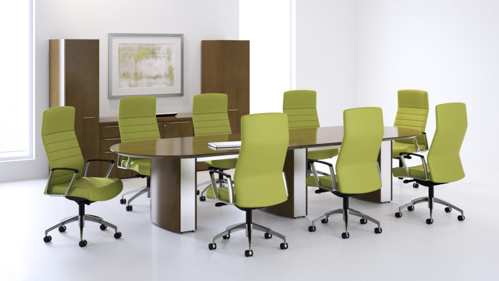 Paoli Fuse Conference Table with Svelte Chairs