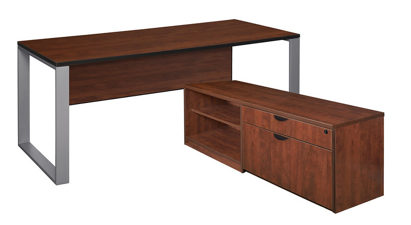 Structure Desk with Legacy Storage Cabinet