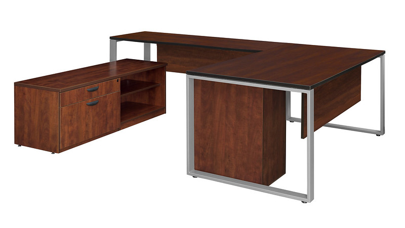 U-Shape Desk with Legacy Cabinets