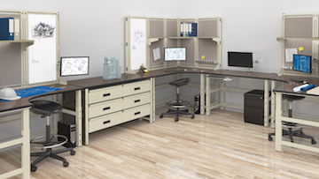 Mayline Techworks Engineering Workstations