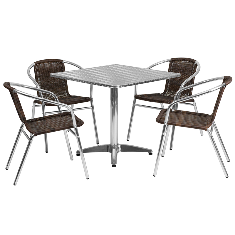 Aluminum Cafe Tables & Chairs