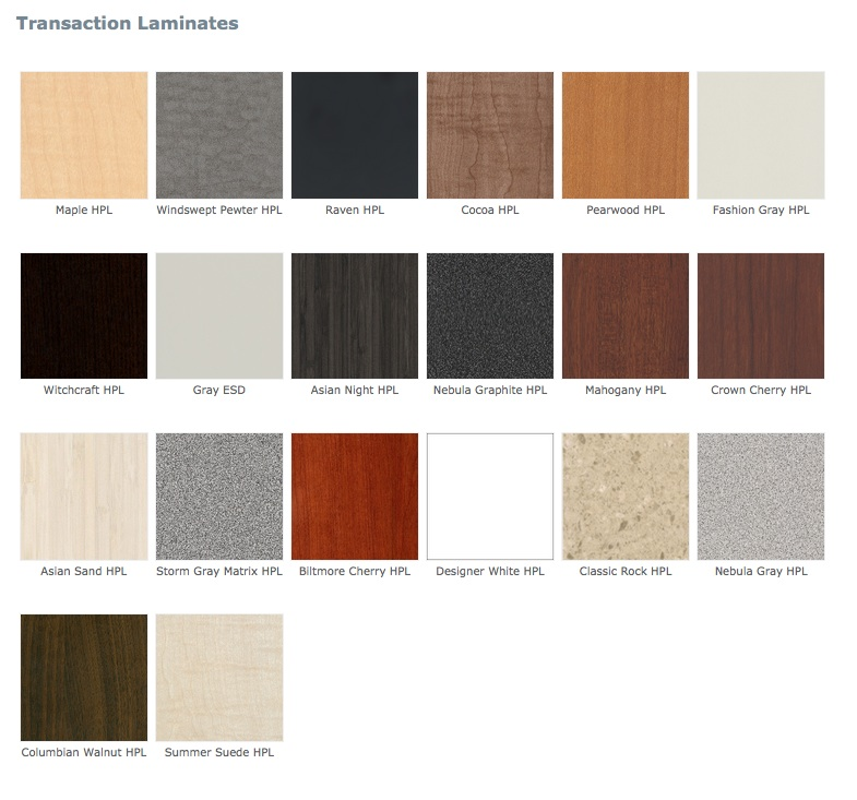 Mayline Laminate Colors