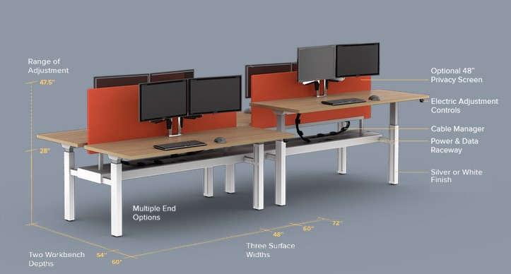 Watson Seven Height-Adjustable Workstation
