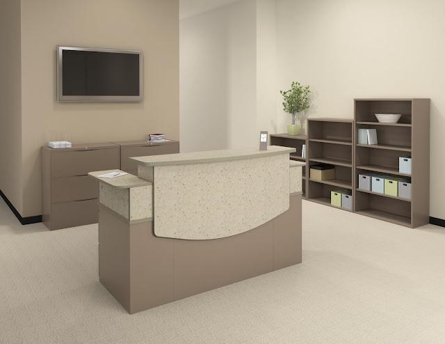 collections reception area reception desks