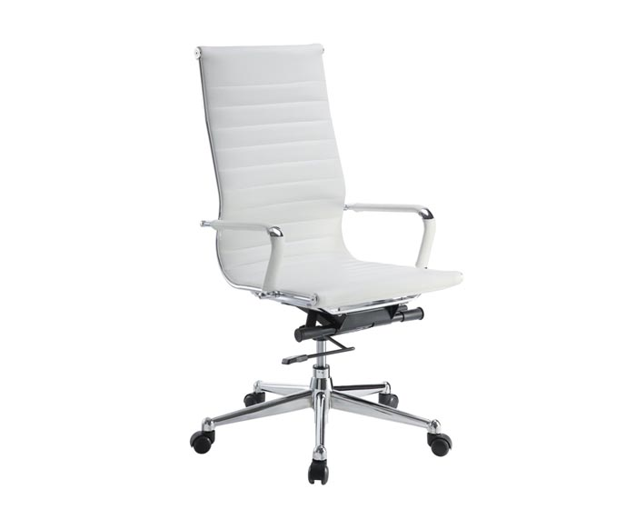 Discount office furniture save up to 70 of office for Desk chair white leather