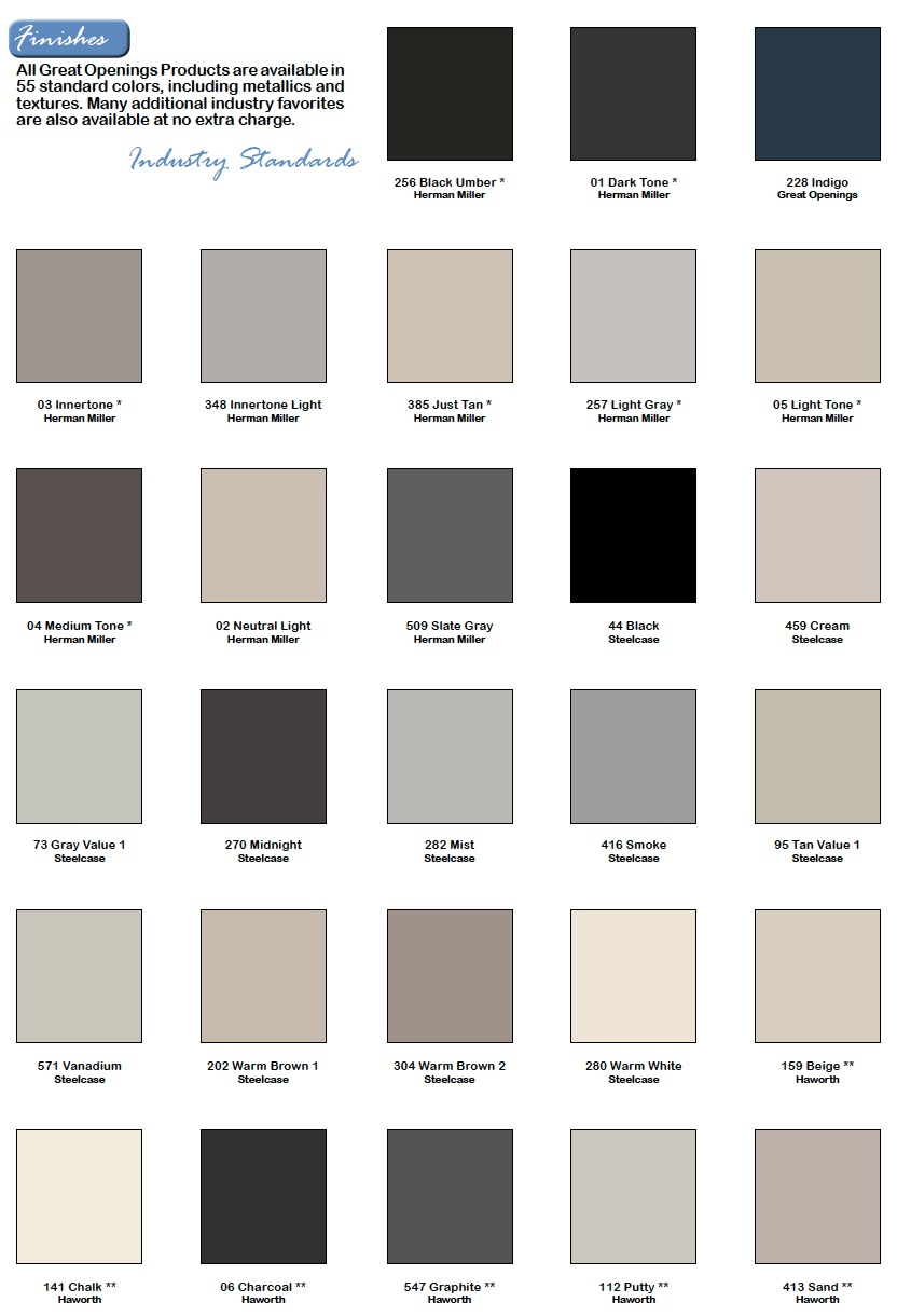 Great Openings Paint Selections