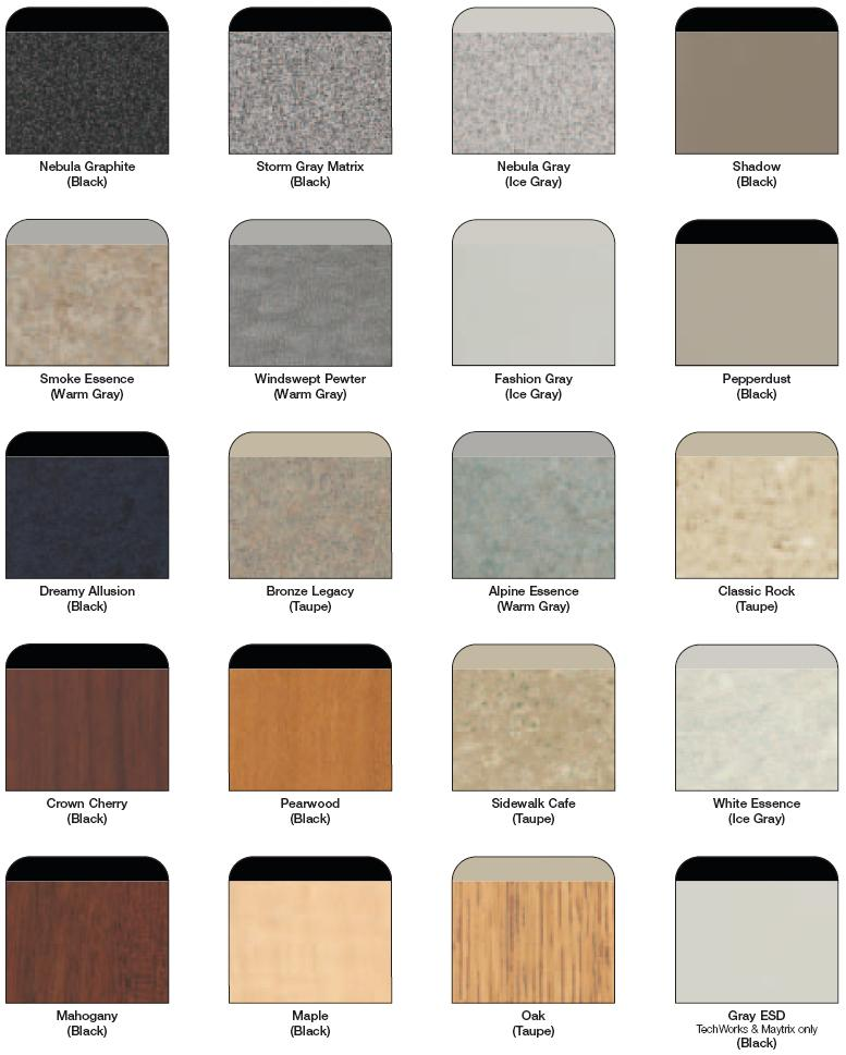 Mayline High Pressure Laminate Chart