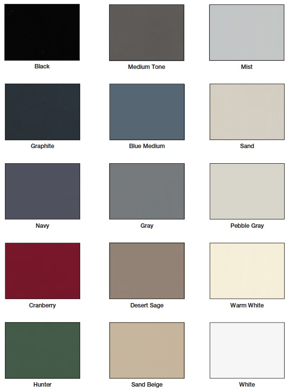 Mayline Paint Color Chart