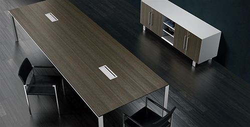 Watson Miro Conference Table and Storage Credenza