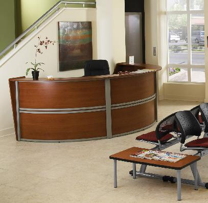 Wow Ofm Marque Reception Desks Enhance Your Lobby Area