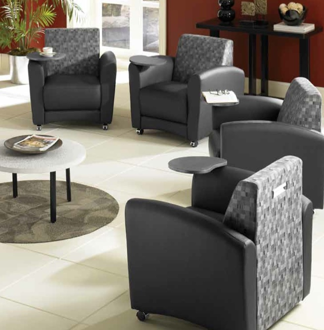 OFM InterPlay Social Seating Series Single Tablet Chair