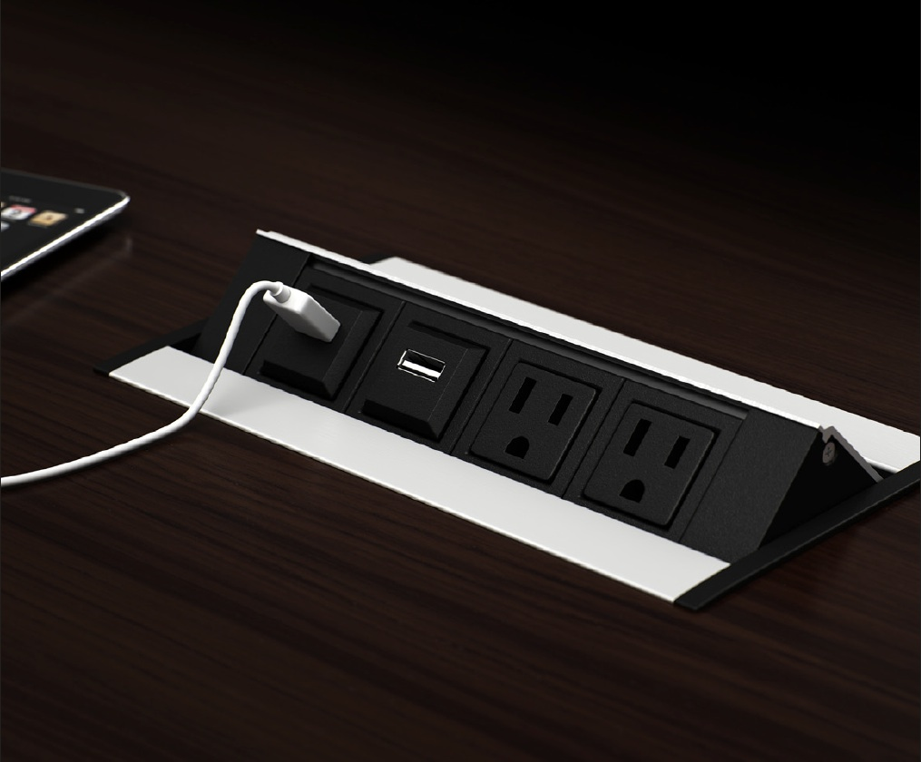 Conference Table Power Data Video Modules Enhance Your Next Meeting - Conference table power hub