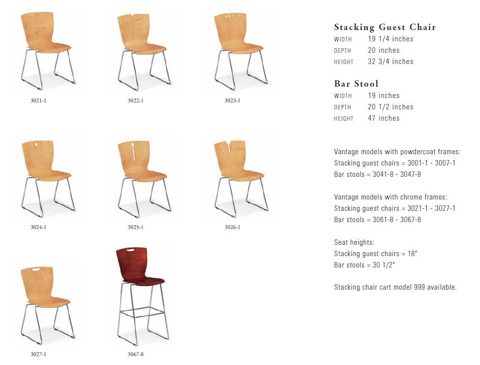 Paoli Vantage Stacking Chairs
