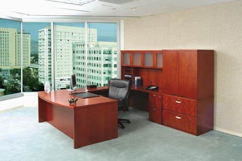 mayline mira desk image cherry office furniture