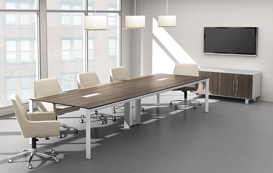 Conference tables make a positive statement with Room and board furniture quality