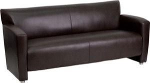 Reception Area Leather Sofas
