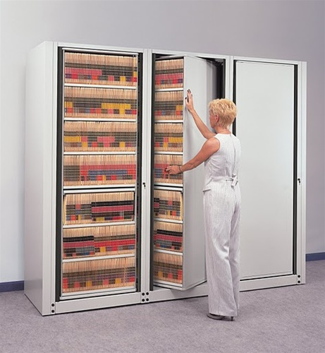 Mayline ARC Rotary File Cabinets   7 Tier
