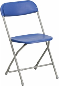 Blue, Gray folding chair