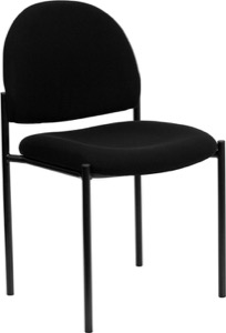 Black Fabric metal stack chair