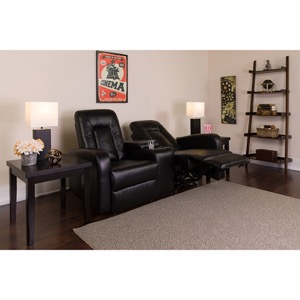 Black Bonded Leather recliner