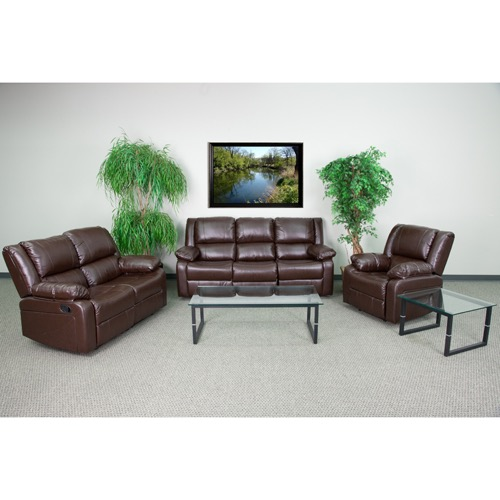 Brilliant Harmony Series Brown Leather Reclining Sofa Set Gamerscity Chair Design For Home Gamerscityorg