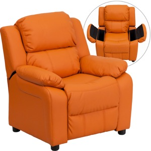 Orange kids recliner