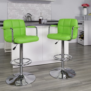 Green contemporary barstool