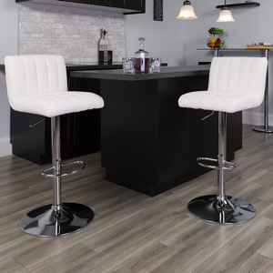 White contemporary barstool