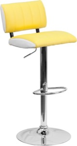 Yellow contemporary barstool