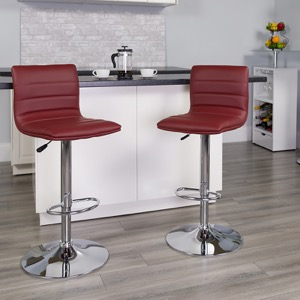 Burgundy contemporary barstool