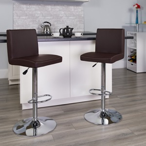Brown contemporary barstool