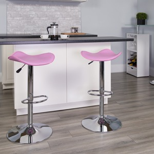 Pink contemporary barstool