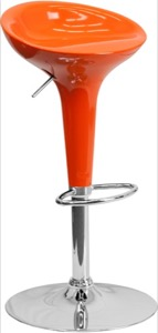 Orange contemporary barstool