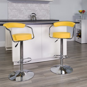 Yellow contemporary barstool