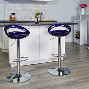 Blue contemporary barstool