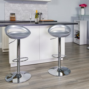 Silver contemporary barstool