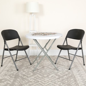 Black, Gray folding chair